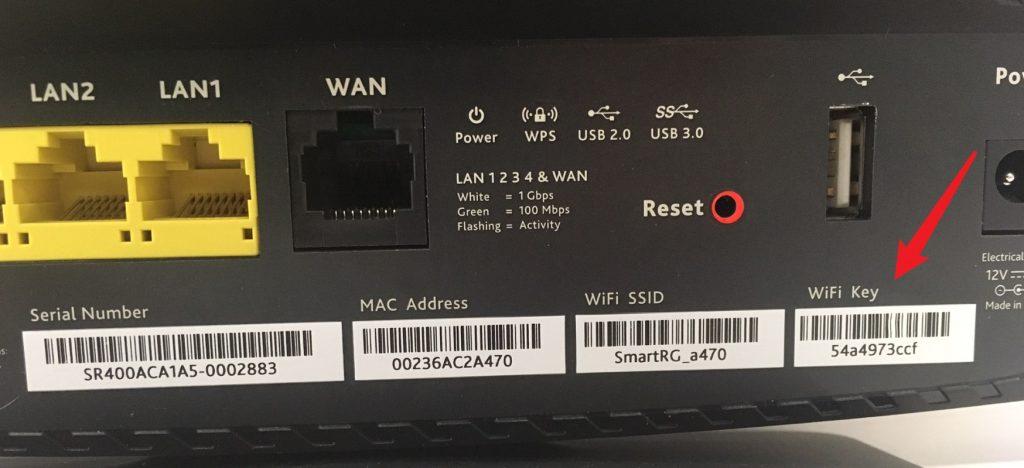 Étiquette clé Wi-Fi